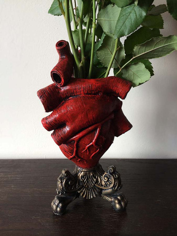 Red Anatomical Heart Vase Lesquelet Online Store