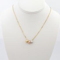 Mini Skulls Necklace (Gold)