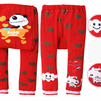 Panda Tub Red with Hearts Legging Pants in New Style