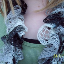 Potato Chip/Ruffle Scarf In Smoke