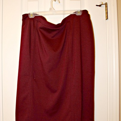 Burgundy/oxblood ponte pencil skirt, xl