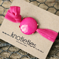 knotie bubble original - pink w/gold