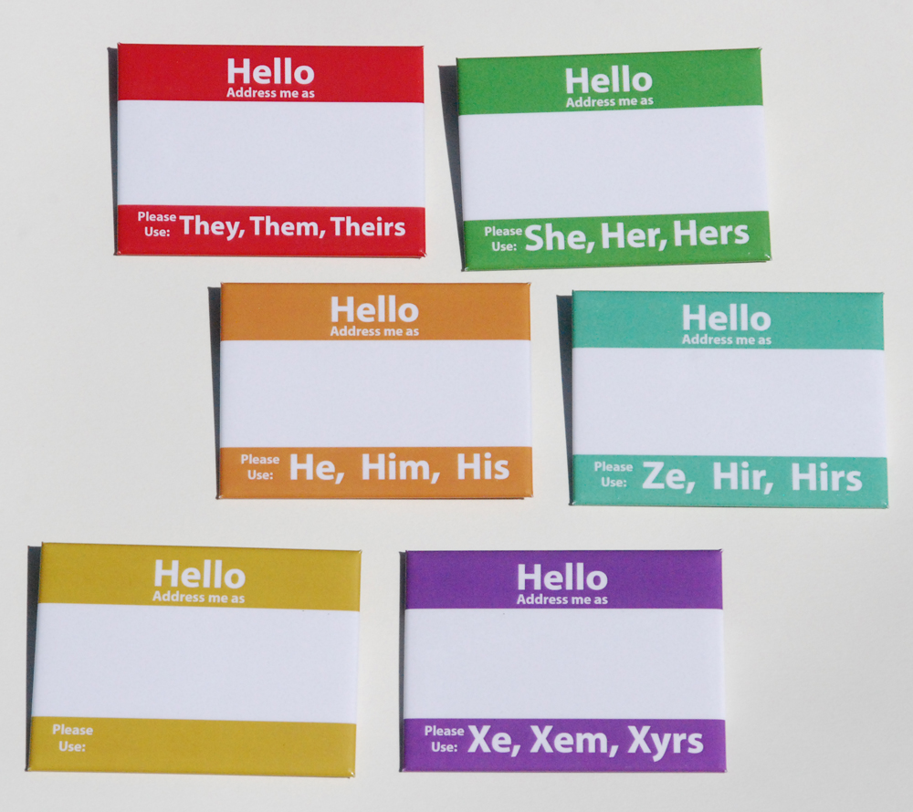 Hello Pronouns Buttons On Storenvy