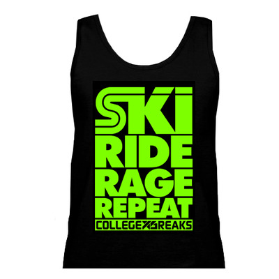Collegexbreaks - tank - black & neon green