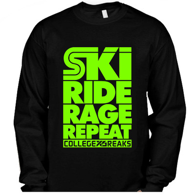 Collegexbreaks - long sleeve - black & neon green