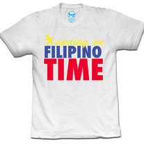 Running/Filipino Time (White)