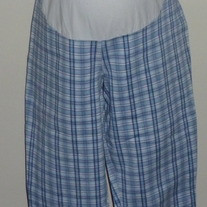 Blue Plaid Capris-Planet Motherhood Size Medium