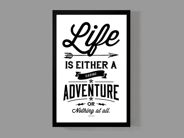 Life Is Either A Daring Adventure Or Nothing At All   Helen Keller   Travel  Quote