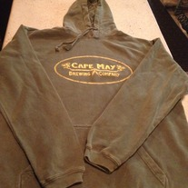 Dark Green / Gold Hooded Sweatshirt
