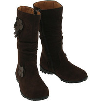 L'amour Brown Flower Boot