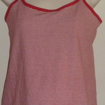 Red/White Stripe Cami-Motherhood Size Medium