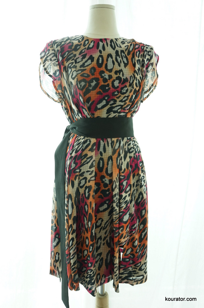 how and what leopard print dress with black fabric belt