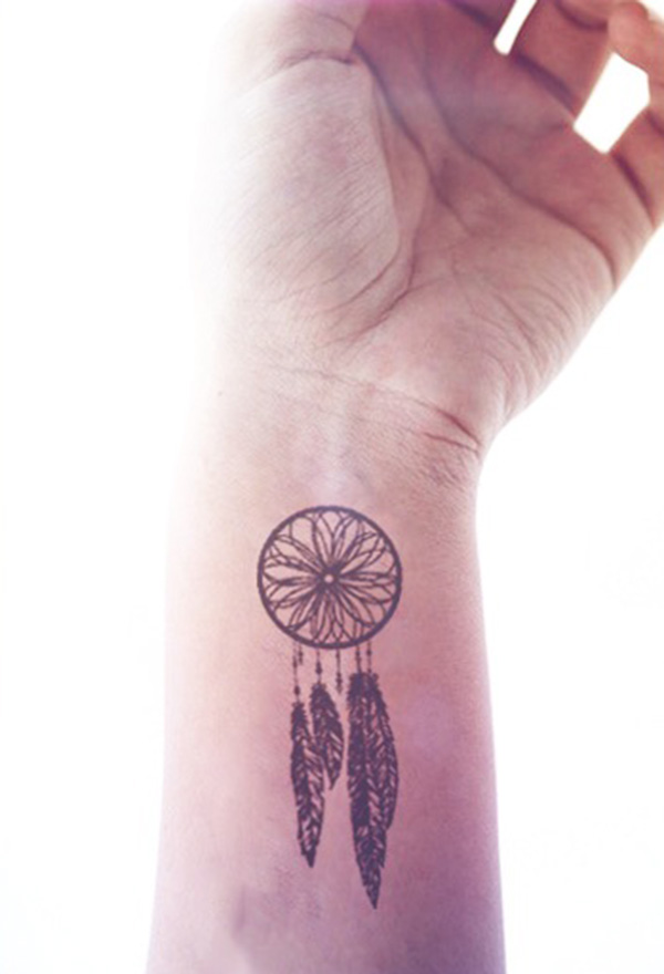 2pcs Dreamcatcher hipster tattoo - InknArt Temporary Tattoo - wrist ...