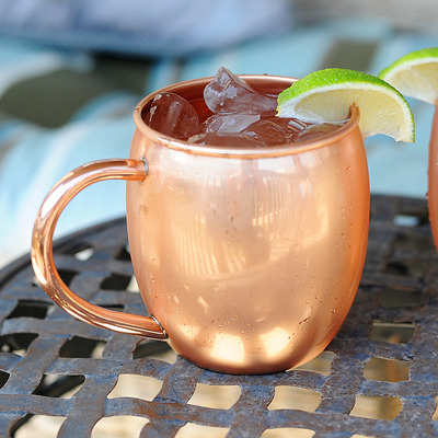 16 oz barrel-shaped copper mug - Thumbnail 4
