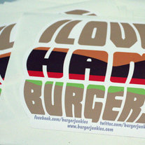I Love Hamburgers Sticker