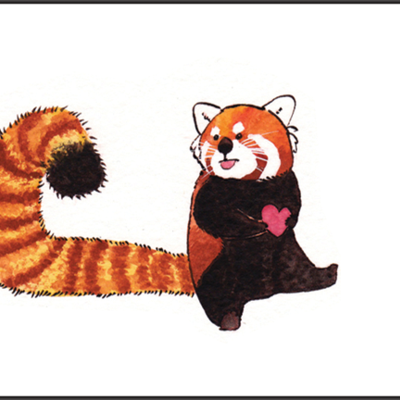 Red panda one greeting card flat cat studio online store powered red panda one greeting card flat cat studio online store powered by storenvy bookmarktalkfo Image collections