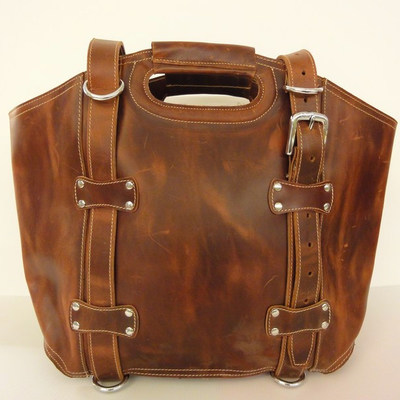 Dove Road Large Leather Bag - Full Grain · Old School Leather Bags ...