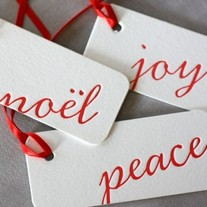 Peace, Joy, Noel Gift Tags
