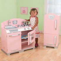 KidKraft Pink Retro w/ Fridge