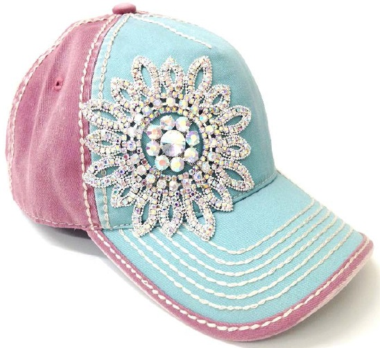 personalized baseball caps in bulk for large dogs hemlock handmade glass beaded flower duo tone heavy contrast stitching cap rhinestone small