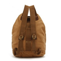 Camping canvas duffle backpacks | bucket laptop pack - Thumbnail 2