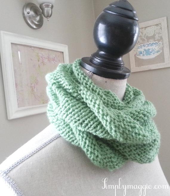 Spring Scarf Knitting Pattern : Spring Knit Infinity Scarf ? The Velvet Cove ? Online ...