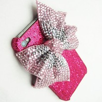 Pink Shimmer Bow Case (iPhone 4/4s)
