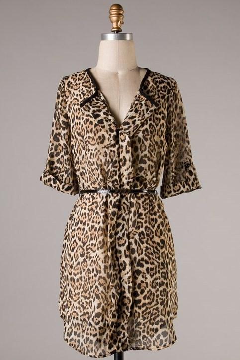 Leopard Print Tunic Dress Southern Charm Designs