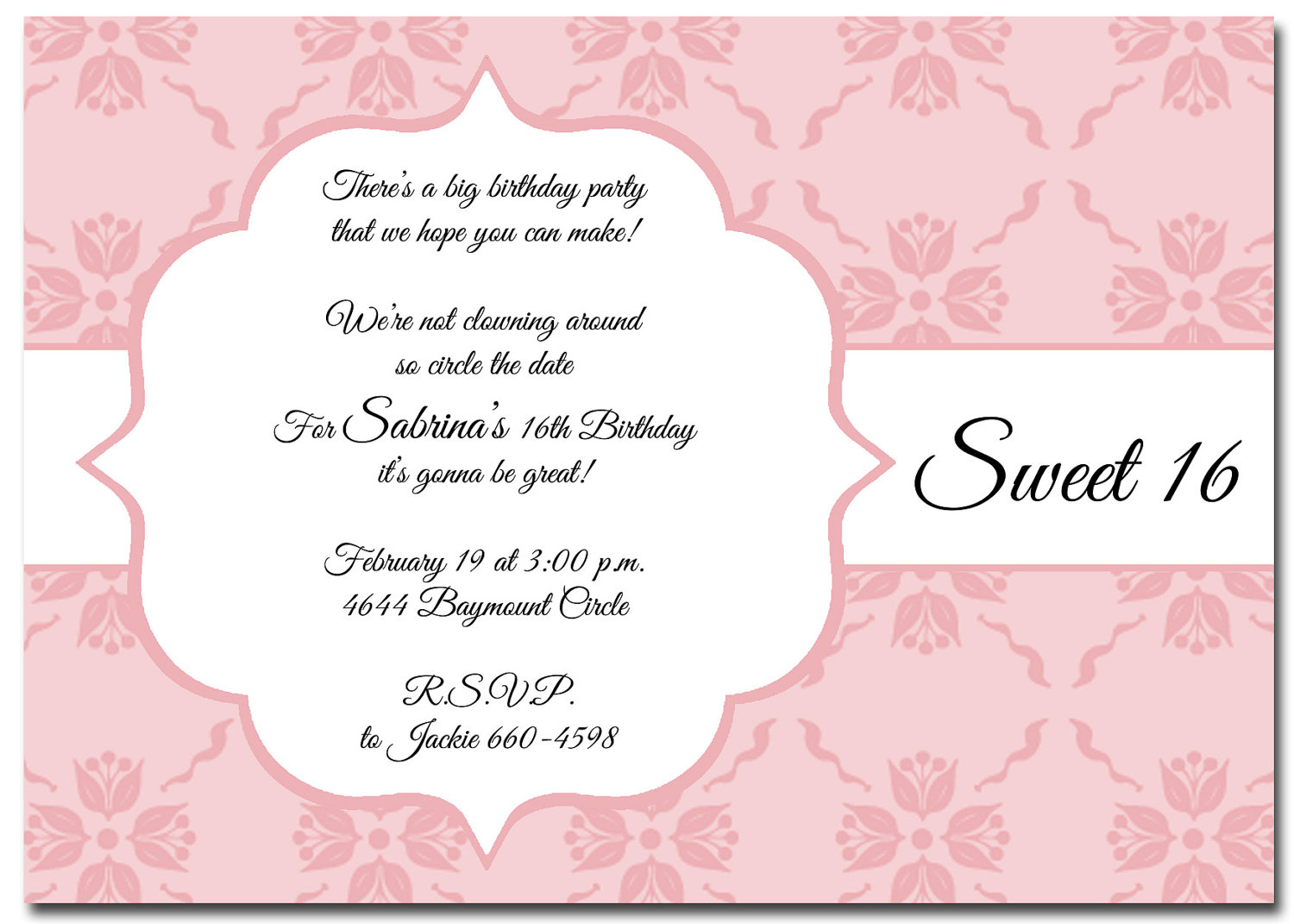 RileDesigns | Elegant Frame Birthday Invitations | Online Store ...