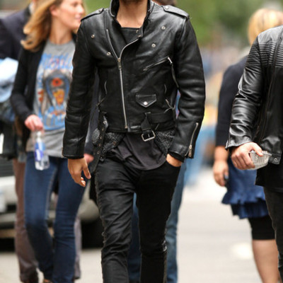 HhANDMADE MENS JACKET, JARED LETO LEATHER JACKET, BLACK BIKER ...