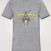 """TOTEM (Eye Gaze)"" American Apparel Tri Blend Shirt for Men (Heather Gray)"