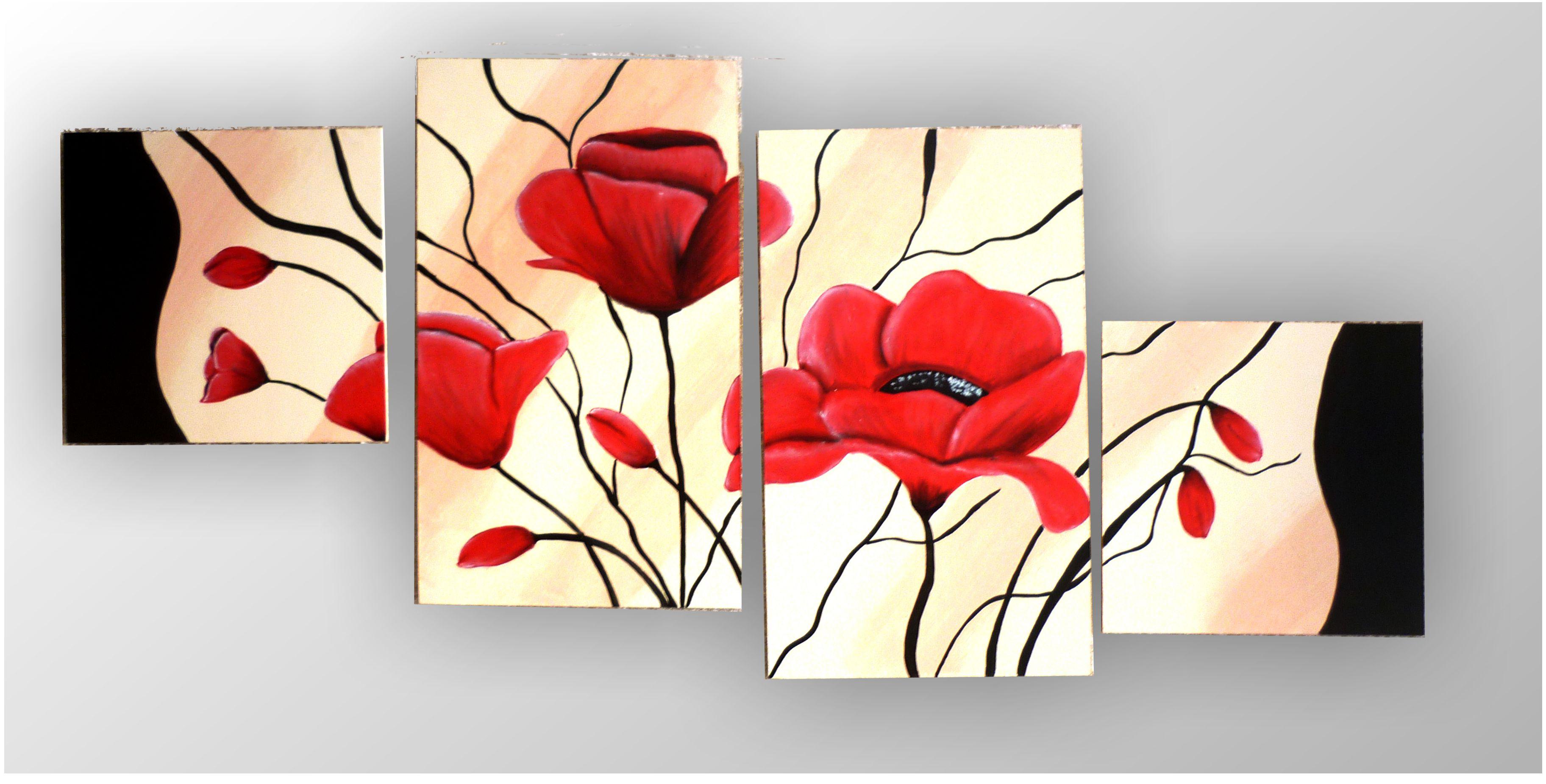 Imagenes de cuadros de flores modernos imagui Cuadros tripticos modernos para comedor