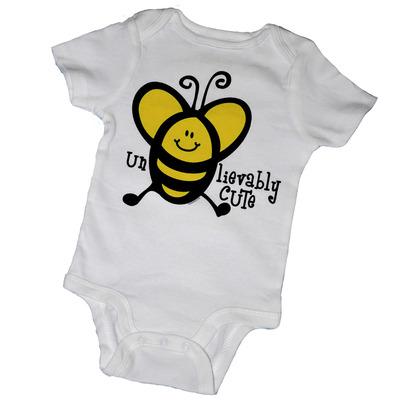 "Un""bee""lievably cute baby bodysuits & tot tees"