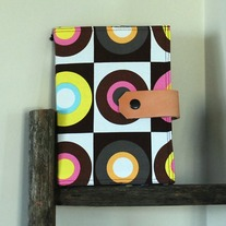 Fabric Covered A5 Journal - Retro Circles - Mother's Day Special - Was $35 Now $29
