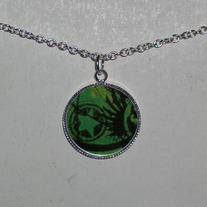 Green Star Bezel Pendant
