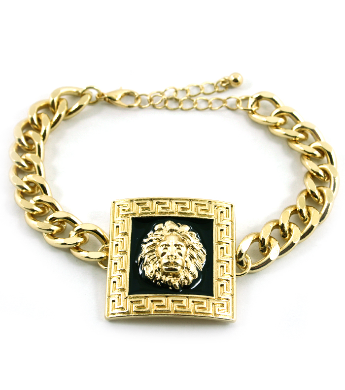 Versace Inspired Necklace Versace Inspired Gold/blk sq