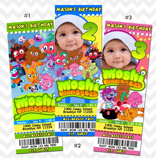 ithinkparty   DIY: Moshi Monsters Invitation   Online Store Powered by ...