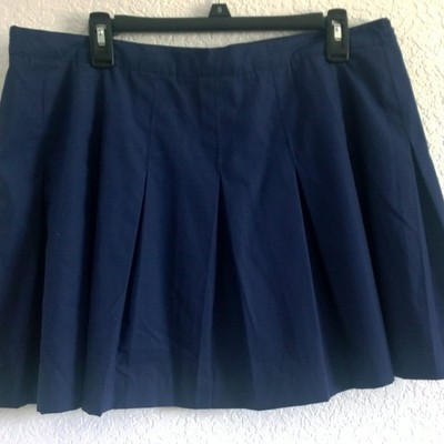 L/xl navy blue pleated tennis skirt