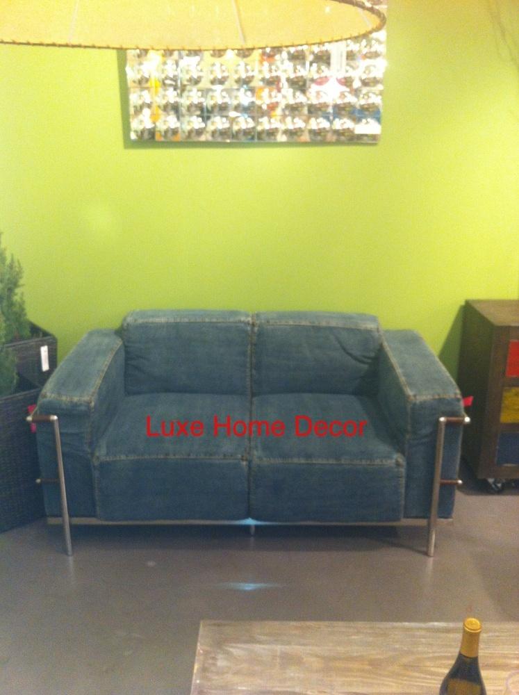 Denim Love Seat Luxe Home Decor Furnishings Online