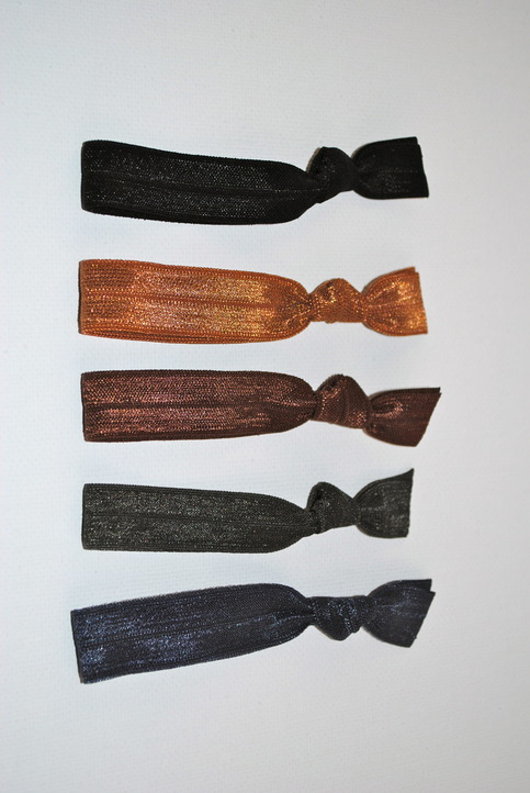 The Allison Set of 5 No-Crease Elastic Hair Ties