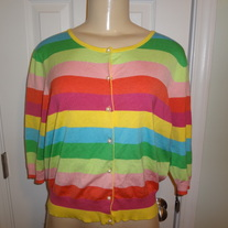 Plus Size Colorful Cardigan Size XL