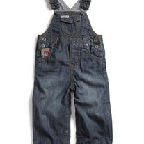Baby Guess Boys Denim Overalls