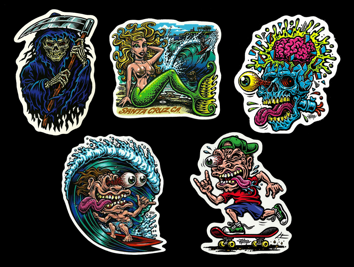SMALL STICKER PACK Of Full Color Shaped Vinyl Stickers WITH - Full color vinyl stickers