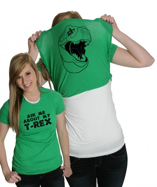 Ask me about my t rex t shirts on storenvy