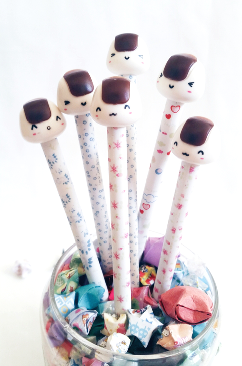 Smiling Onigiri Pens (Set of 3)