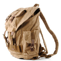 Rugged canvas travel rucksacks | Cool daypack mens - Thumbnail 1