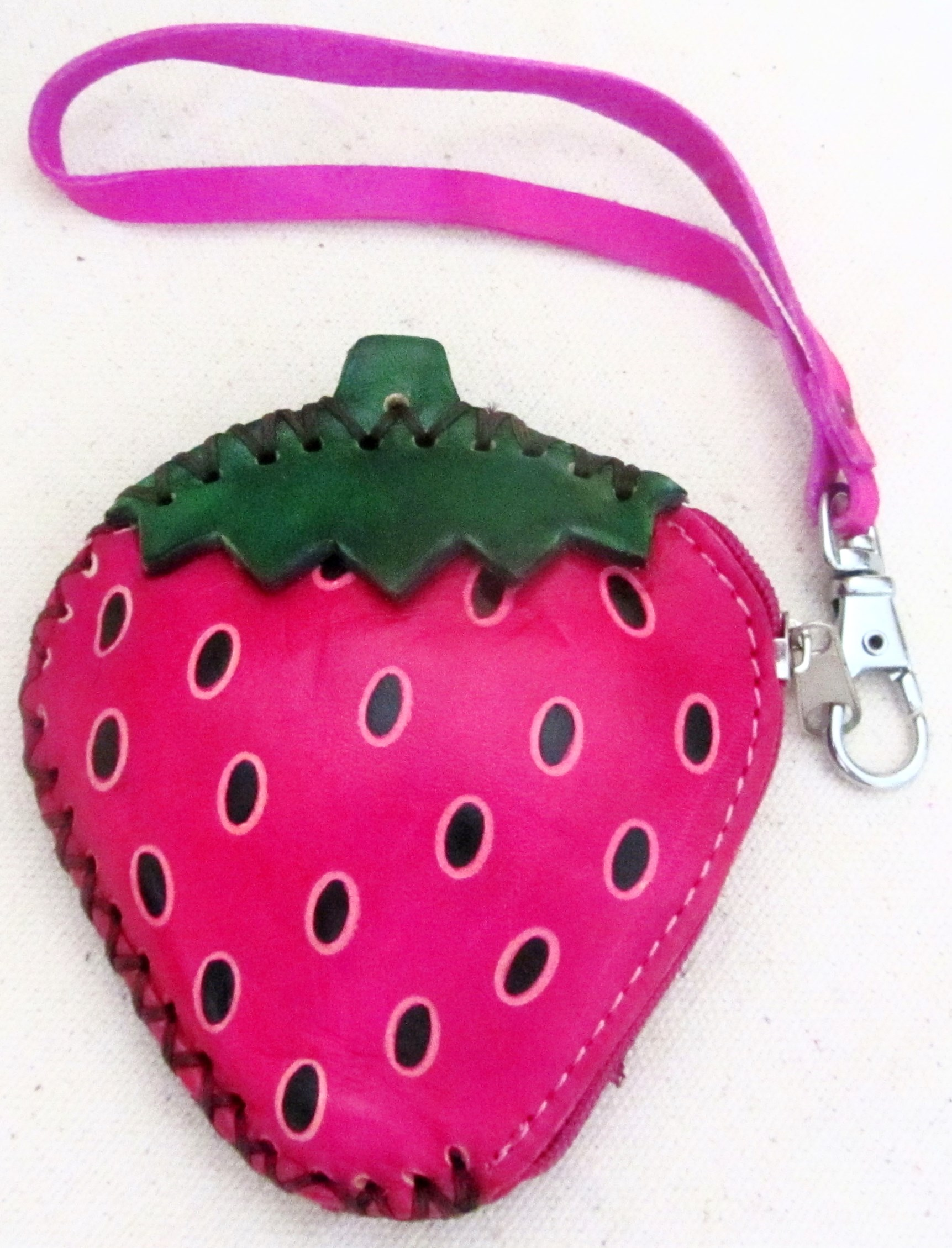 Strawberry Wallet - Strawberries - Strawberry Color Wallet - Leather ...