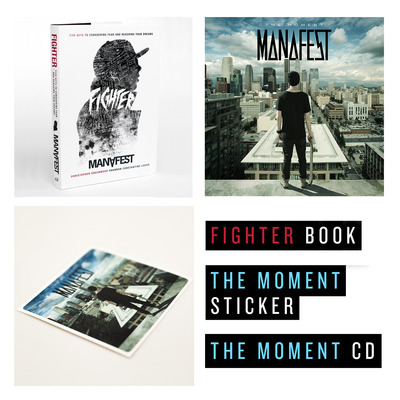 The moment cd, fighter book & sticker