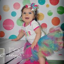 Little Sister T Shirt Onesie Tutu Skirt Set Outfit With FREE Headband