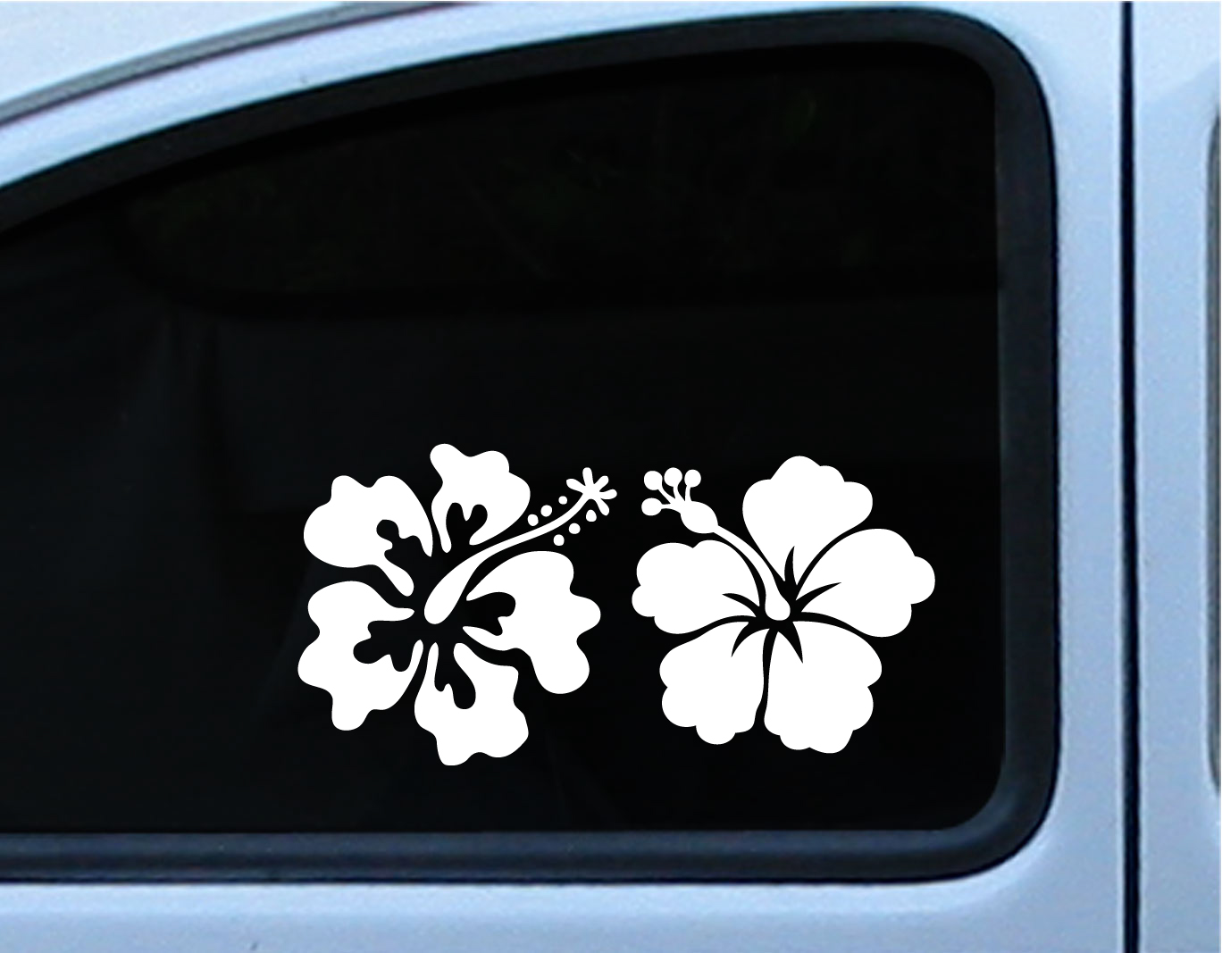 Hibiscus reflective flower set of 2 decal vinyl die cut stickers 5 hibiscus reflective flower set of 2 decal vinyl die cut stickers 5 inch in multiple of izmirmasajfo